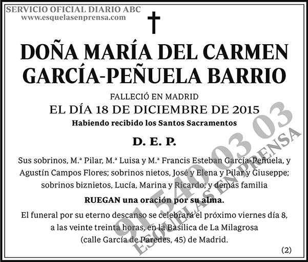 María del Carmen García-Peñuela Barrio